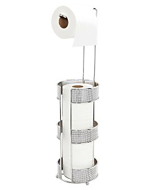 Bath Bliss Toilet Paper Holder and Dispenser in Pave Diamond Design