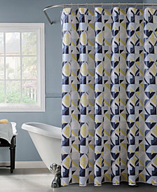 Bath Bliss Geometric Design Shower Curtain