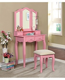 Brooke Transitional Vanity and Stool, Quick Ship