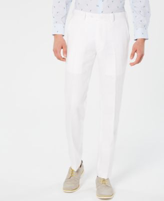 Men's Slim-Fit White Suit Pants, Created for Macy's