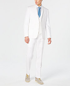 Bar III Men's Slim-Fit White Suit Separates, Created for Macy's