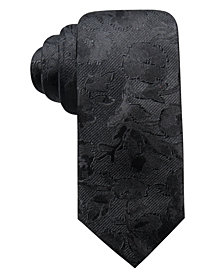Ryan Seacrest Distinction™ Men's Bradford Slim Floral Silk Tie, Created for Macy's