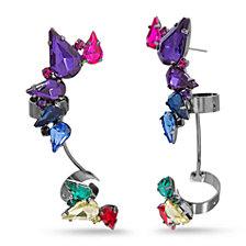 Steve Madden Rainbow Crawler Earring