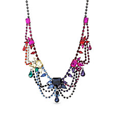 Steve Madden Rainbow Dangle Chain Bib Necklace