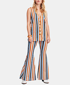 Free People Bridget Striped Vest & Pants Set