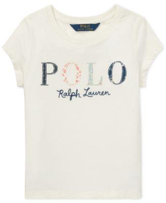 Polo Ralph Lauren Little Girls Logo Graphic Cotton T-Shirt - Shirts   Tees  - Kids - Macy s f233a68ae