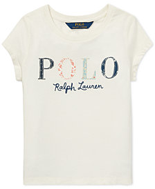 Polo Ralph Lauren Little Girls Logo Graphic Cotton T-Shirt