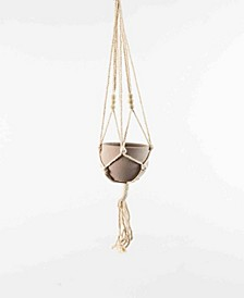 Cotton Macrame Hanger w/Clay Pot