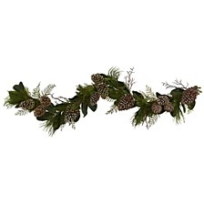 6' Pine Cone & Pine Artificial Garland