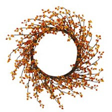 """Nearly Natural 24"""" Sweet Bitter Wreath"""