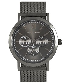 Faux Chrono Heavy Steel Mesh Watch