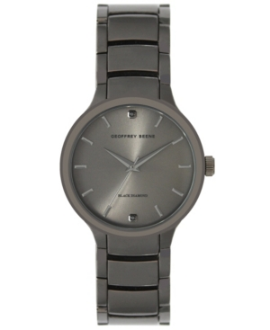 Genuine Black Diamond Dial Bracelet Watch