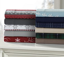 Holiday Print Flannel Extra Deep Pocket Sheet Set