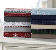 Holiday Print Flannel Extra Deep Pocket Sheet Set