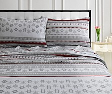 Holiday Print Flannel Extra Deep Pocket Twin XL Sheet Set