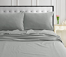 170-GSM Ultra-Soft Cotton Flannel Solid Extra Deep Pocket Twin XL Sheet Set