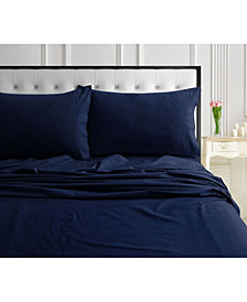 170-GSM Ultra-Soft Cotton Flannel Solid Extra Deep Pocket King Sheet Set