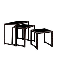 Lodge 3 Piece Patio Nesting Table