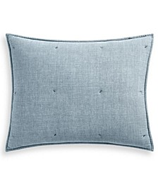 Tufted Chambray Standard Sham, Created for Macy's