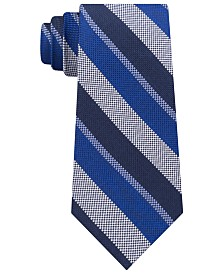 Tommy Hilfiger Men's Classic Oxford Stripe Silk Tie