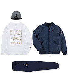 Jordan Big Boys 23 Cap, Logo Jacket, Graphic-Print T-Shirt & Jogger Pants