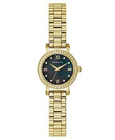 BCBGMAXAZRIA Ladies GoldTone Bracelet Watch with Dark MOP Dial, 24mm