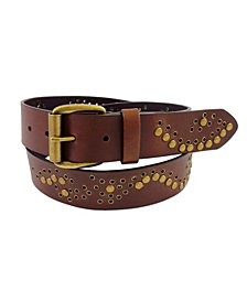 Fashion Focus Accessories Studded Leather Belt