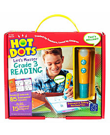 Educational Insights Hot Dots Let's Master Grade 3 Reading Set With Talking Pen