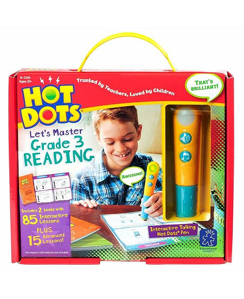 Learning Resources Educational Insights Hot Dots Let's Master Grade 3 Reading Set With Talking Pen