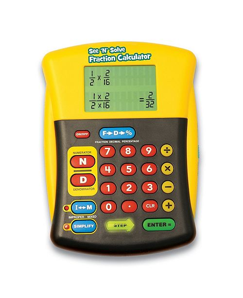 Learning Resources Educational Insights See 'N' Solve Fraction Calculator