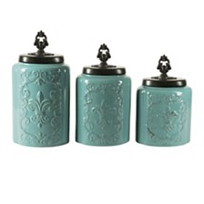 Jay Imports Antique Canister, Set of 3