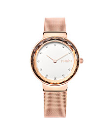 RumbaTime Santa Monica Rose Gold Mesh Women's Watch