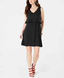 Style & Co Petite Tiered Sleeveless Dress, Created for Macy's