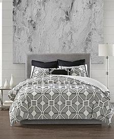 N Natori Shandong Full/Queen 3 Piece Cotton Yarn Dyed Comforter Set