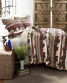 Holiday Lodge Brown 3-Pc Set Full/Queen Quilt Set