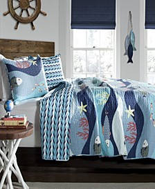 Sea Life 3-Pc Set Full/Queen Quilt Set