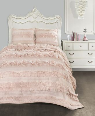 Belle Ruffle 2-Piece Twin Quilt Set