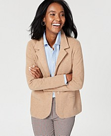 Pure Cashmere Blazer, Regular & Petite Sizes, Created for Macy's