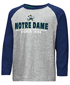 Colosseum Notre Dame Fighting Irish Long Sleeve Raglan T-Shirt, Toddler Boys (2T-4T)