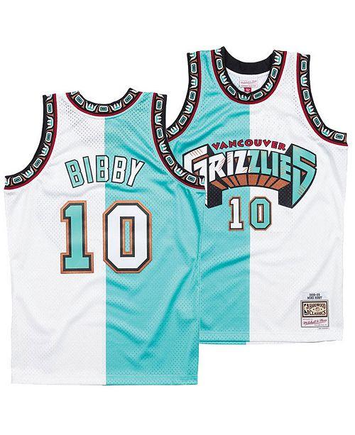 c6ecca01661 ... Mitchell & Ness Men's Mike Bibby Vancouver Grizzlies Split Swingman  Jersey ...