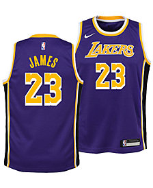 Nike LeBron James Los Angeles Lakers Statement Swingman Jersey, Big Boys (8-20)