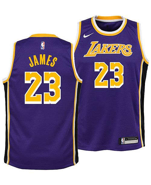 timeless design c33e0 9df38 LeBron James Los Angeles Lakers Statement Swingman Jersey, Big Boys (8-20)