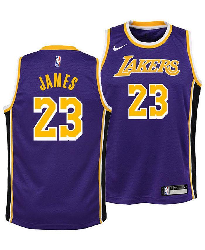 Nike LeBron James Los Angeles Lakers Statement Swingman Jersey ...