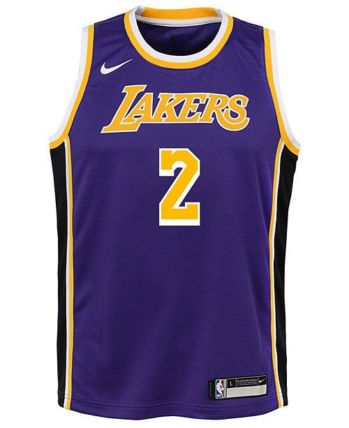 huge selection of bb472 e31a8 Lonzo Ball Los Angeles Lakers Statement Swingman Jersey, Big Boys (8-20)