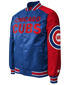 G-III Sports Men's Chicago Cubs Dugout Starter Satin Jacket II