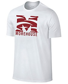 New Agenda Men's Morehouse Maroon Tigers Big Logo T-Shirt