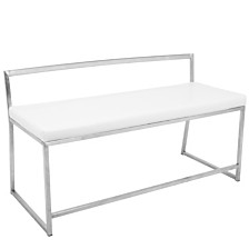 Lumisource Fuji Bench in Faux Leather