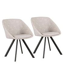Matisse Chair in Faux Leather Set of 2