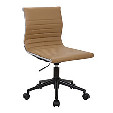 Lumisource Masters Task Chair in Base and Camel Faux Leather