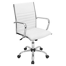 Lumisource Master Adjustable Office Chair with Swivel in Faux Leather